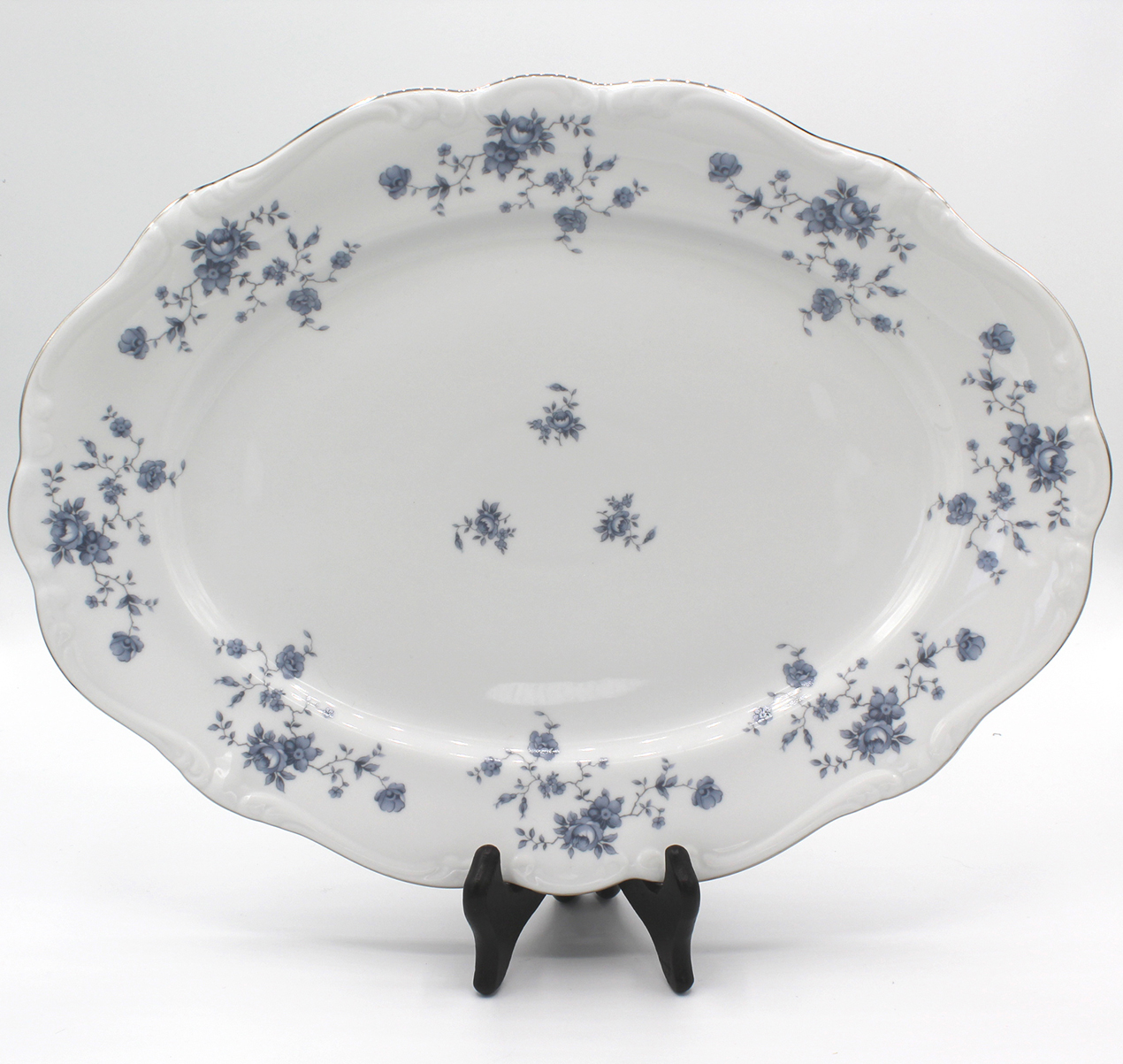 Vintage Johann Haviland Blue Garland (Traditions) 13″ Oval Serving Platter | Whispering City RVA