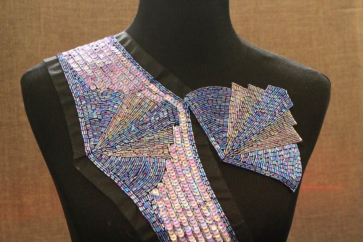 Vintage Art Deco Drop Waist & Shoulder Sewing Applique Set | Whispering City RVA
