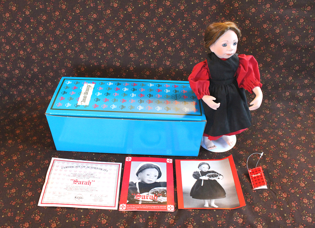 Vintage Ashton-Drake Galleries Sarah Amish Blessings Doll | Whispering City RVA