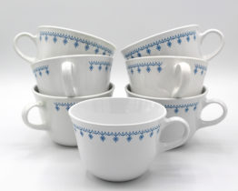Vintage Corning Correlle Living Snowflake Blue Coffee Cups Set | Whispering City RVA