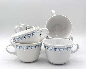 Vintage Corning Correlle Living Snowflake Blue Coffee Cups Set | Whispering City RVA