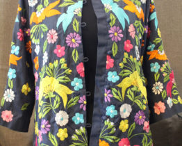 Vintage Chuchi Embroidered Kimono Jacket at Whispering City RVA