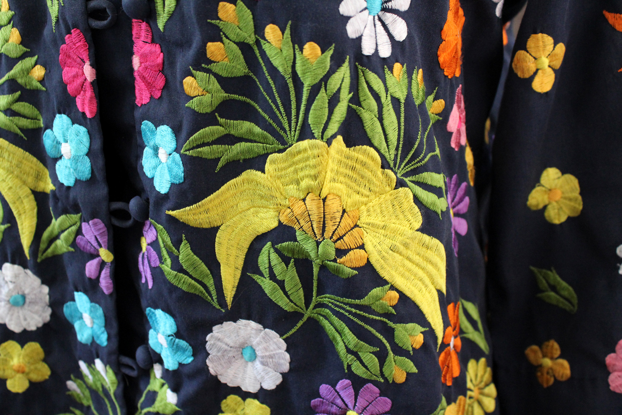 Vintage Chuchi Embroidered Kimono Jacket Size Large | Whispering City RVA
