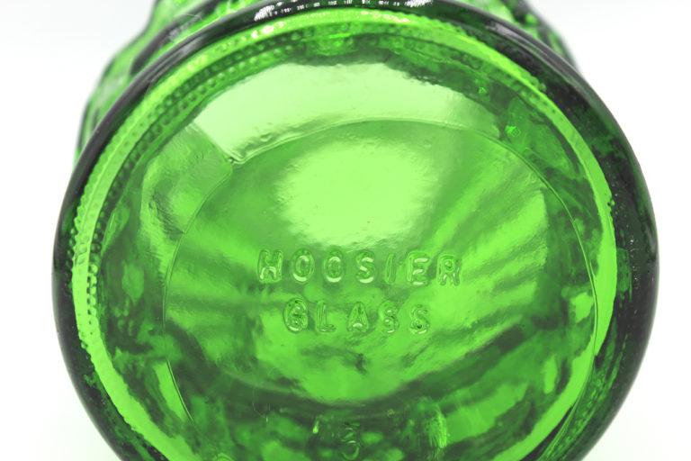 Vintage Green Crinkle Glass Hoosier Vase 8.5″   Whispering City RVA