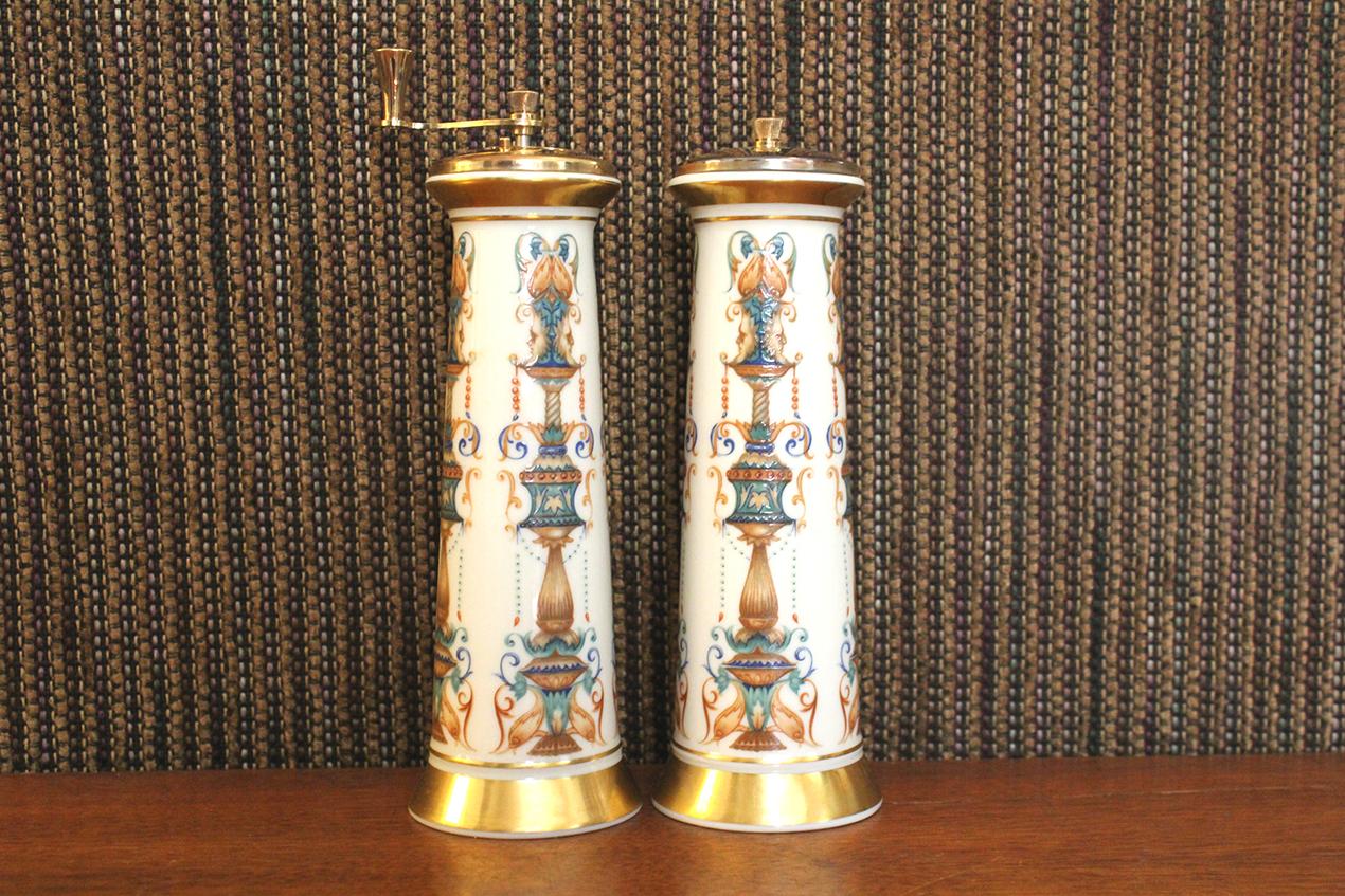 Vintage Lenox Lido Salt Shaker + Pepper Mill Set | Whispering City RVA