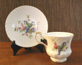 Vintage 1960s Queen's Rosina Birds of America Goldfinch Teacup & Saucer Set | Whispering City RVA