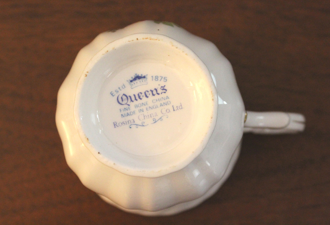 Vintage Queen's Rosina fine bone china Birds of America Goldfinch teacup and saucer set at Whispering City RVA