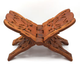 Vintage Himalayan sheesham wood hand carved book stand at Whispering City RVA