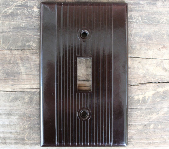 vintage Levinton bakelite light switch covers at Whispering City RVA