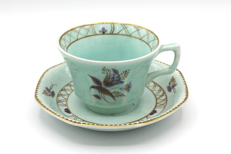 Vintage 1950s Adams Calyx Ware Regent Pattern Flat Cups & Saucers Set | Whispering City RVA