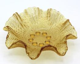 Vintage amber glass bowl home decor at Whispering City RVA