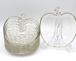 Vintage Clear Glass Apple Snack Plates Set | Whispering City RVA