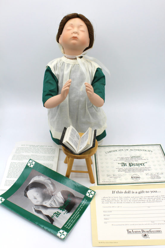 Vintage Ashton-Drake Galleries At Prayer Amish Blessings Doll | Whispering City RVA