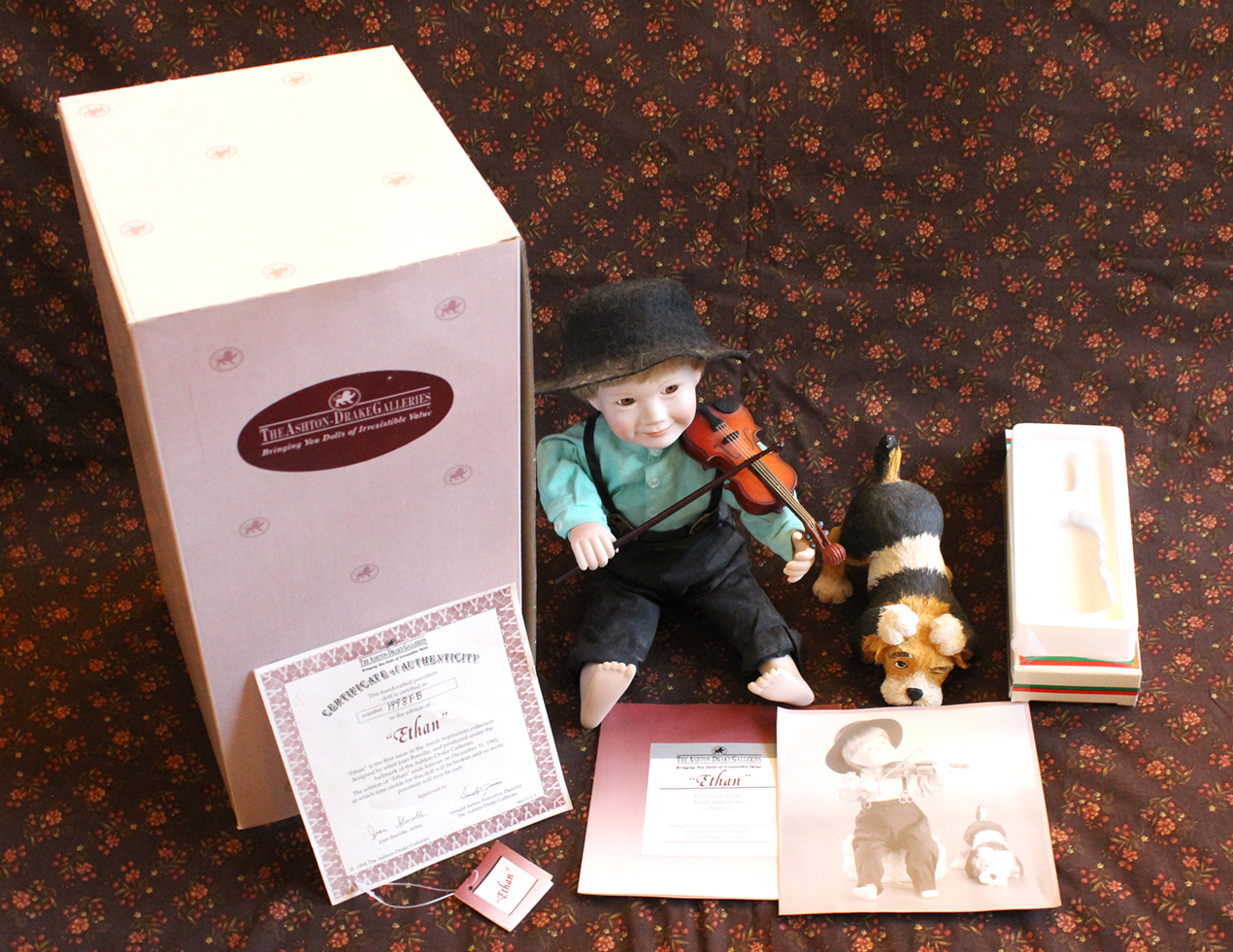 Vintage Ashton-Drake Galleries Ethan Amish Inspirations Doll | Whispering City RVA