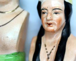 Vintage Native American Chief & Squaw Salt & Pepper Shaker Set | Whispering City RVA