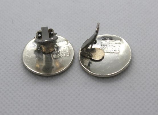 Vintage MCM Sterling Silver & Stone Earrings | Whispering City RVA