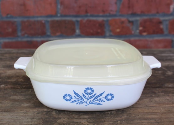 Vintage Corning Ware Blue Cornflower 1 Qt Casserole w/ Plastic Lid | Whispering City RVA