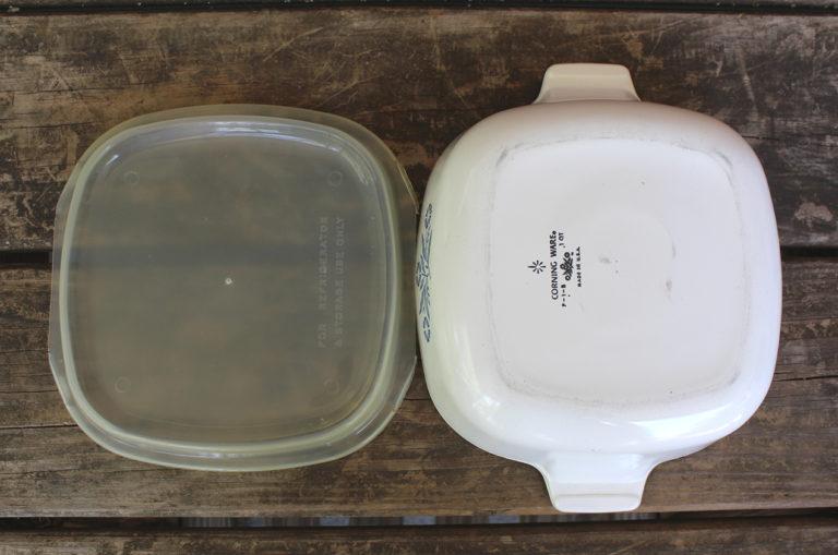 Vintage Corning Ware Blue Cornflower 1 Qt Casserole w/ Plastic Lid   Whispering City RVA