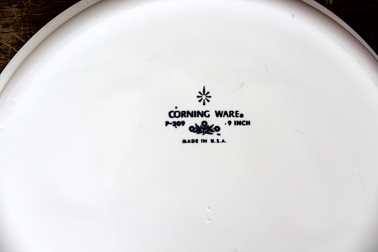 Vintage Corning Ware Blue Cornflower 9″ Pie Baking Dish | Whispering City RVA