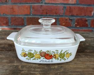 Vintage Corning Ware L'Echalote Spice O' Life 1 Qt Casserole w/ Lid | Whispering City RVA