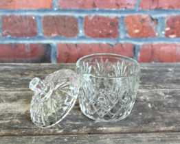 Vintage Clear Cut Glass Covered Sugar Bowl | Whispering City RVA