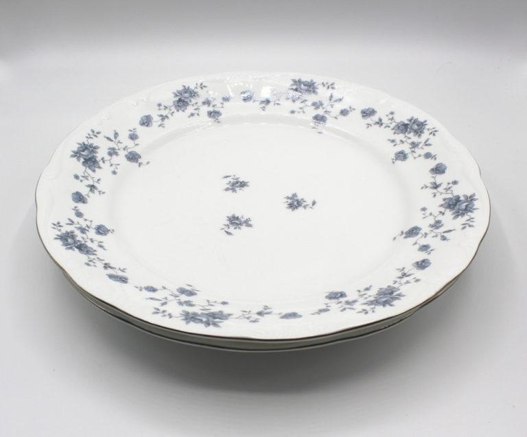 Vintage Johann Haviland Blue Garland (Traditions) 10″ Dinner Plates Set   Whispering City RVA