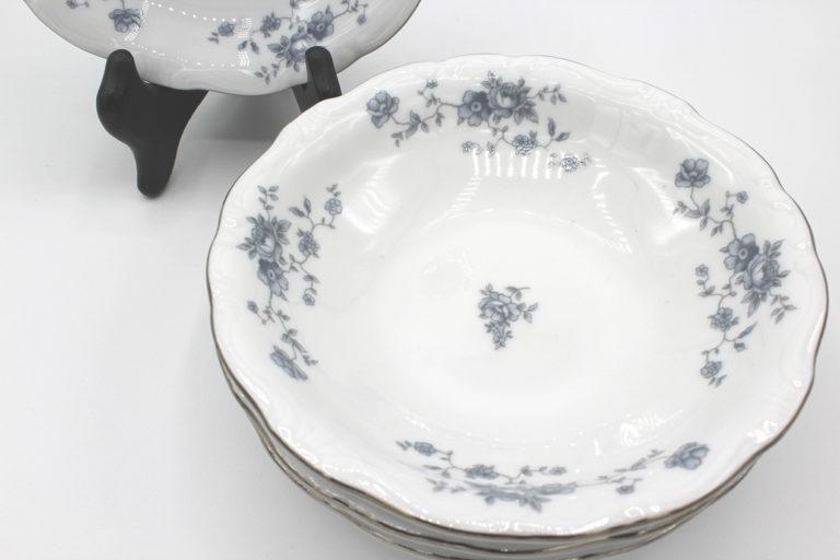 Vintage Johann Haviland Blue Garland (Traditions) Fruit Dessert Bowl Set | Whispering City RVA
