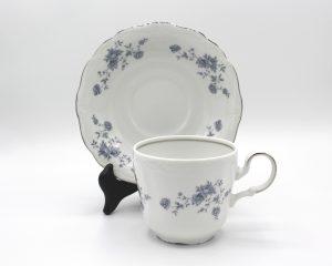 Vintage Johann Haviland Blue Garland (Traditions) Flat Cup & Saucer Set | Whispering City RVA