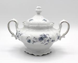 Vintage Johann Haviland Blue Garland (Traditions) Covered Sugar Bowl | Whispering City RVA