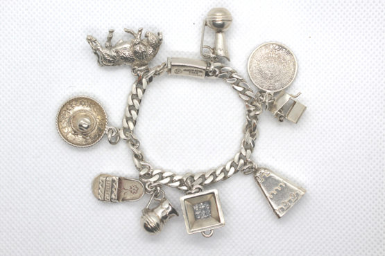 Vintage 925 Sterling Silver 9 Charm Bracelet | Whispering City RVA