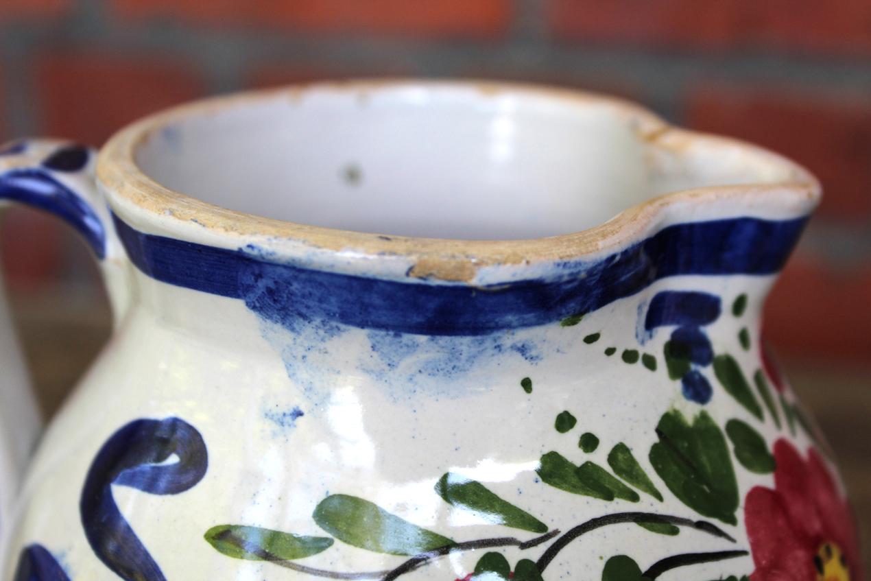 Vintage Italian Folk Art Floral Pottery Vase | Whispering City RVA