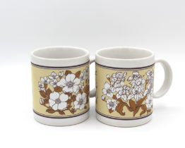 Vintage Japan Dogwood Flower Coffee Mugs Set | Whispering City RVA