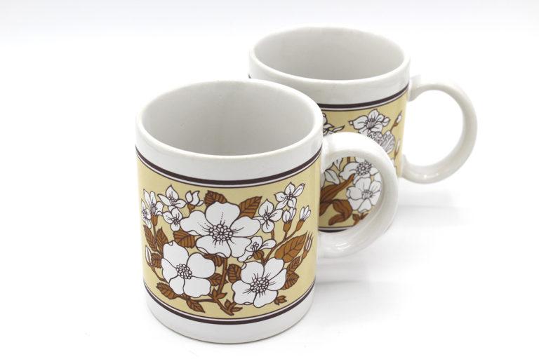 Vintage Japan Dogwood Flower Coffee Mugs Set | Whispering City RVA