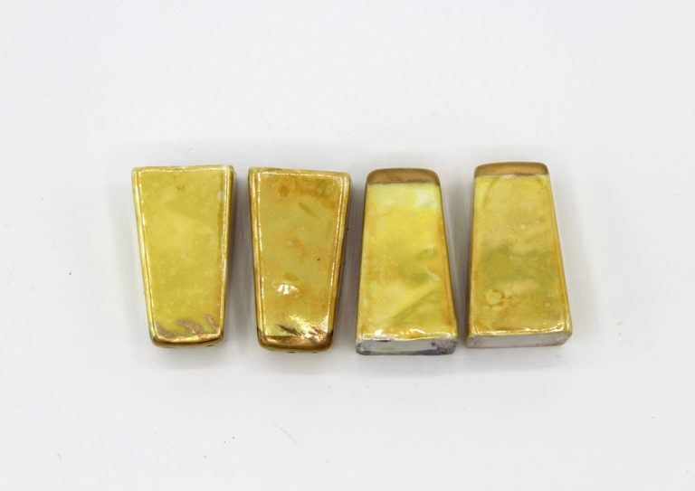 Vintage Yellow & Gold Lusterware Salt & Pepper Shaker Set | Whispering City RVA