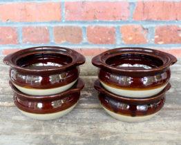 Vintage Monmouth Pottery Stoneware Chili Bowls Set | Whispering City RVA