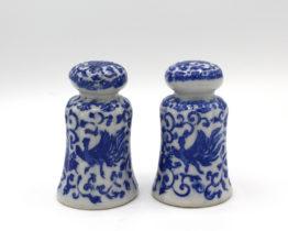 Vintage Rare Phoenix Ware Border B Salt & Pepper Shakers | Whispering City RVA