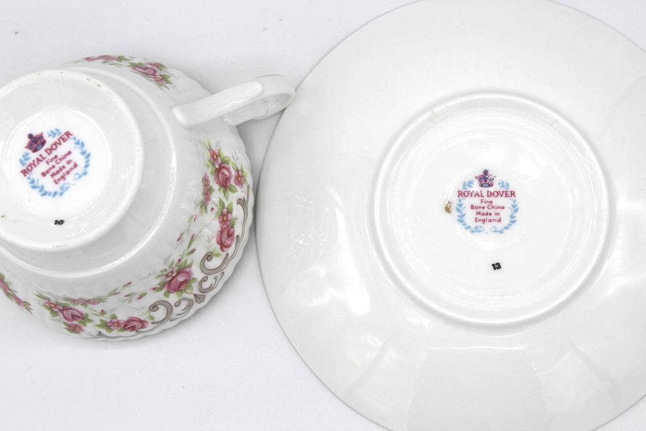 Vintage fine bone china teacup and saucer set from Whispering City RVA