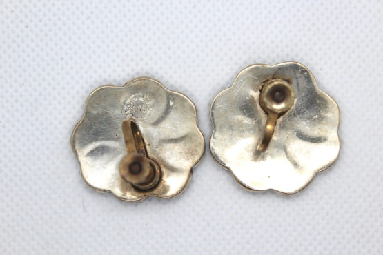 Vintage Taxco 925 Sterling Silver, Jet & Abalone Earrings   Whispering City RVA