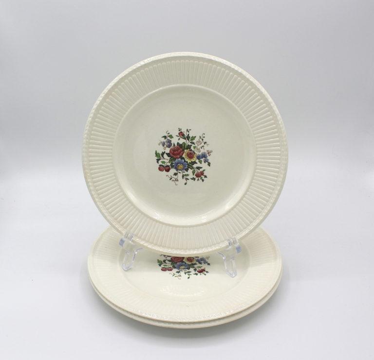 Vintage 1930s Wedgwood Conway Edme Dessert Pie Plates Set | Whispering City RVA