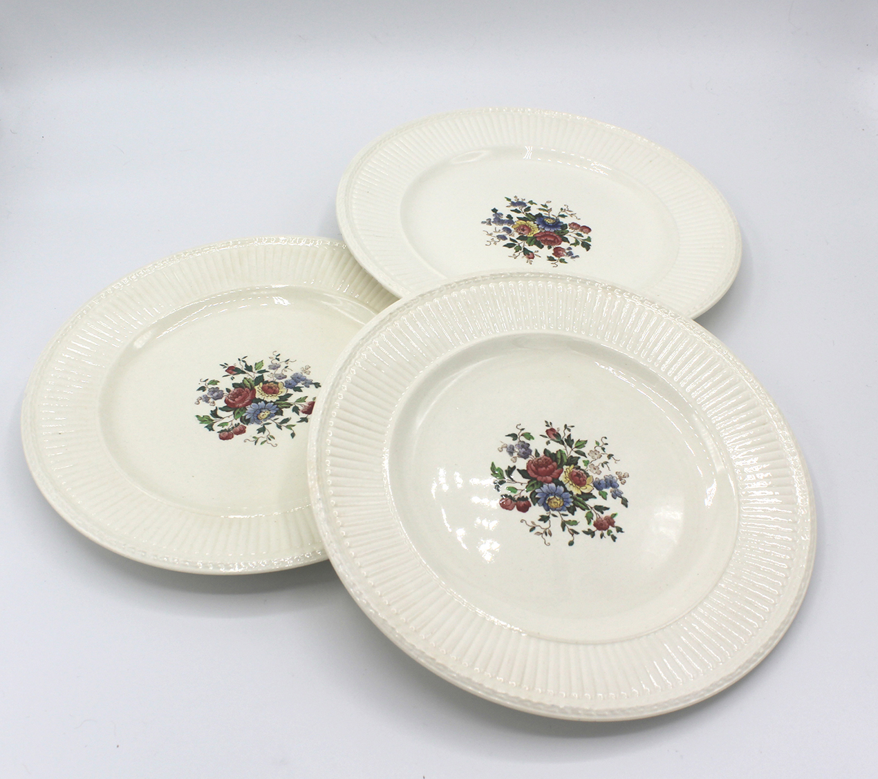 Vintage 1930s Wedgwood Conway Edme Dessert Pie Plates Set | Whispering City RVA