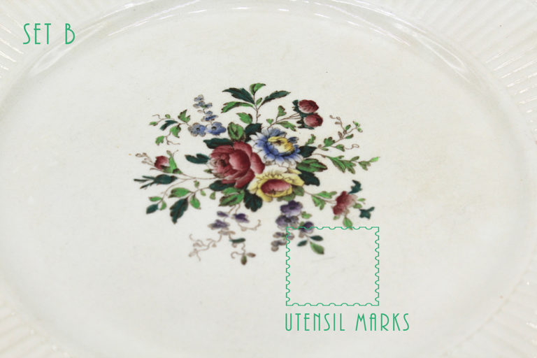 Vintage 1930s Wedgwood Conway Edme Dinner Plates | Whispering City RVA
