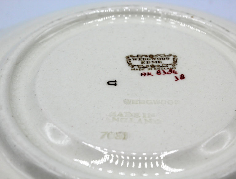 Vintage 1930s Wedgwood Conway Edme Footed Cream Soup Bowl w/ Saucer | Whispering City RVA