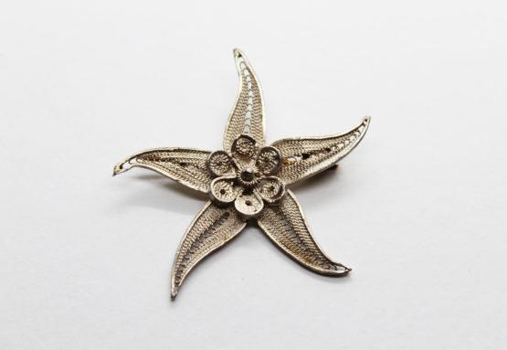 Vintage Bezalel Filigree Sterling Silver Starfish Brooch | Whispering City RVA