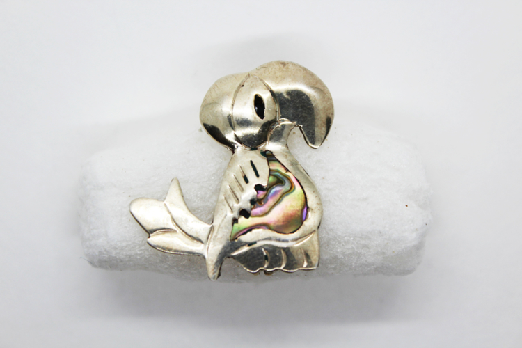 Vintage Taxco Sterling Silver Abalone Toucan Brooch | Whispering City RVA