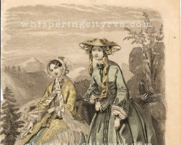 Antique French Fashion Book Illustration at Whispering City RVA