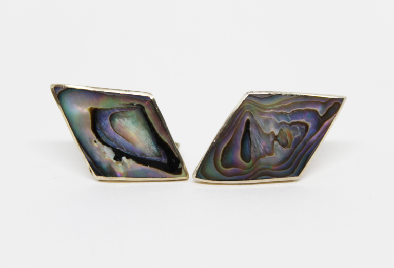 Vintage Taxco 925 Sterling Silver & Abalone Earrings | Whispering City RVA