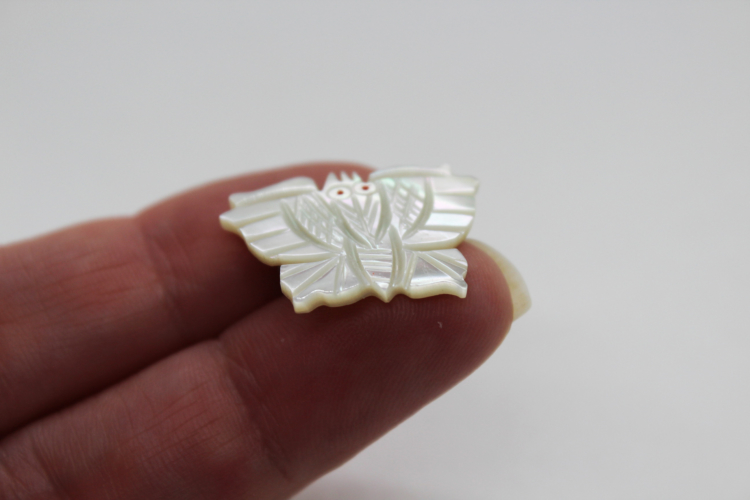 Vintage Carved Mother of Pearl Moth Butterfly Brooch   Whispering City RVA