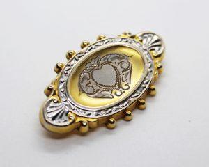 Vintage Hayward 1/20-12K Gold Filled Etched Heart Brooch | Whispering City RVA