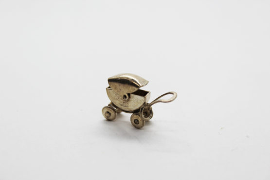 Vintage Silco Mexico sterling silver baby carriage charm at Whispering City RVA