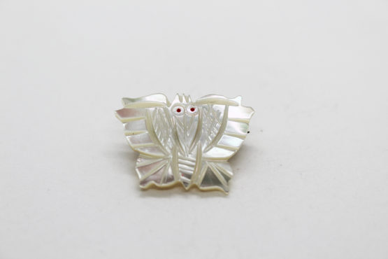 Vintage mother of pearl butterfly / moth brooch at Whispering City RVA
